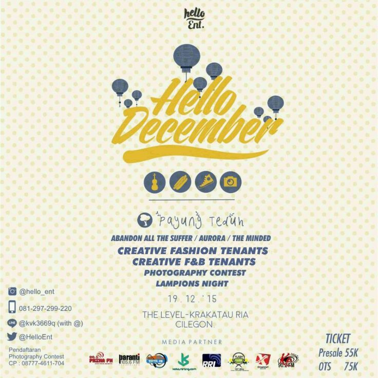 Hello December with Payung Teduh  Read More on http://kotaserang.com/2015/12/hello-december-with-payung-teduh.html