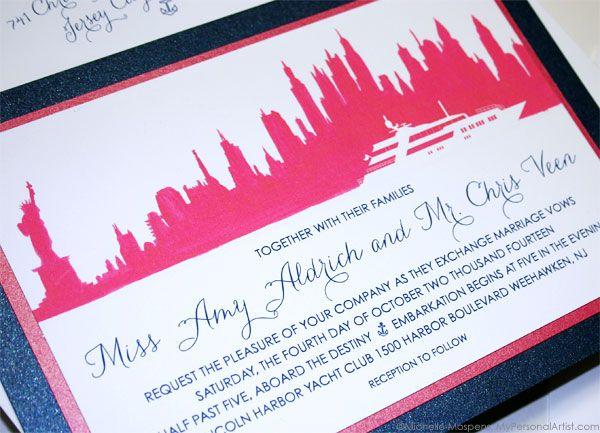 02caf19333acad99539b1f7814c08d4d watercolor wedding invitations bridal shower invitations 16 best new york images on pinterest,New York Style Wedding Invitations
