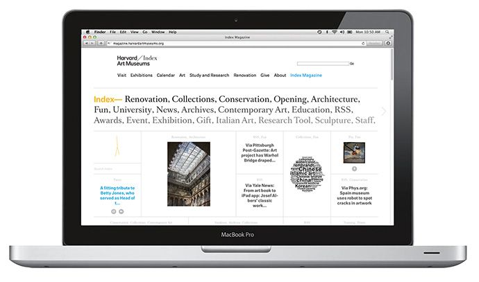 Harvard Art Museums Website / digital magazine