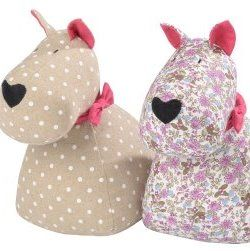 Scottie Dog Paisley Doorstop