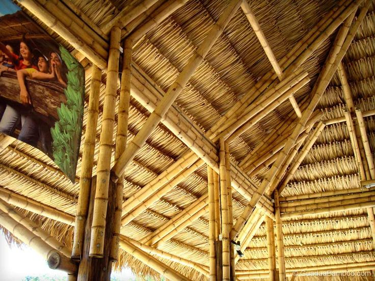 65 best bamboo homes and furnitures images on pinterest for Bamboo roofing materials