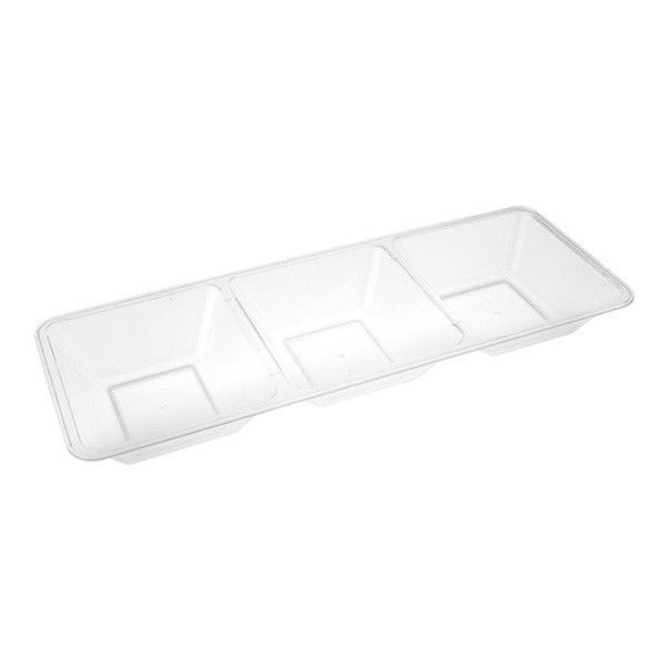 Clear Plastic 3 Section Plates /Set of 48