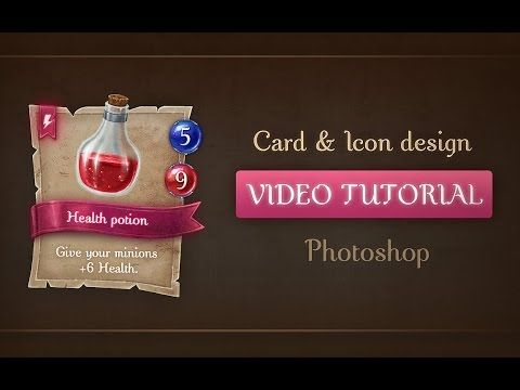 [Tutorial] Designing and painting a Game Card Template and a Health Poti...