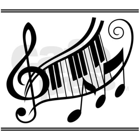 Music Keyboard Treble Clef Shower Curtain by