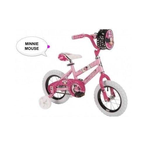 Disney-Girls-Bike-Minnie-Bicycle-Wheels-Pink-Bag-Case-12-Inch-Sports-Outdoor-Toy