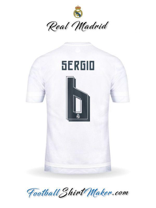 Camiseta Real Madrid CF 2015/2016 Sergio 6
