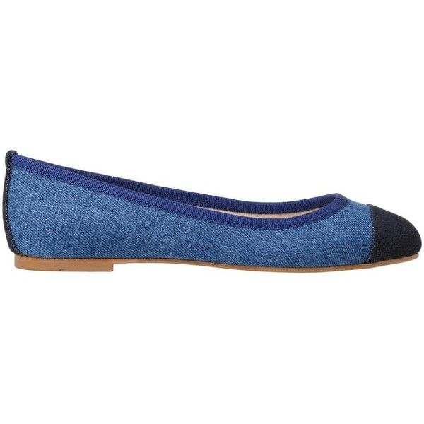 Anna Baiguera Flat Shoes ($185) ❤ liked on Polyvore featuring shoes, flats, blue, ballerina shoes, blue shoes, pointed-toe flats, denim ballet flats and ballerina pumps