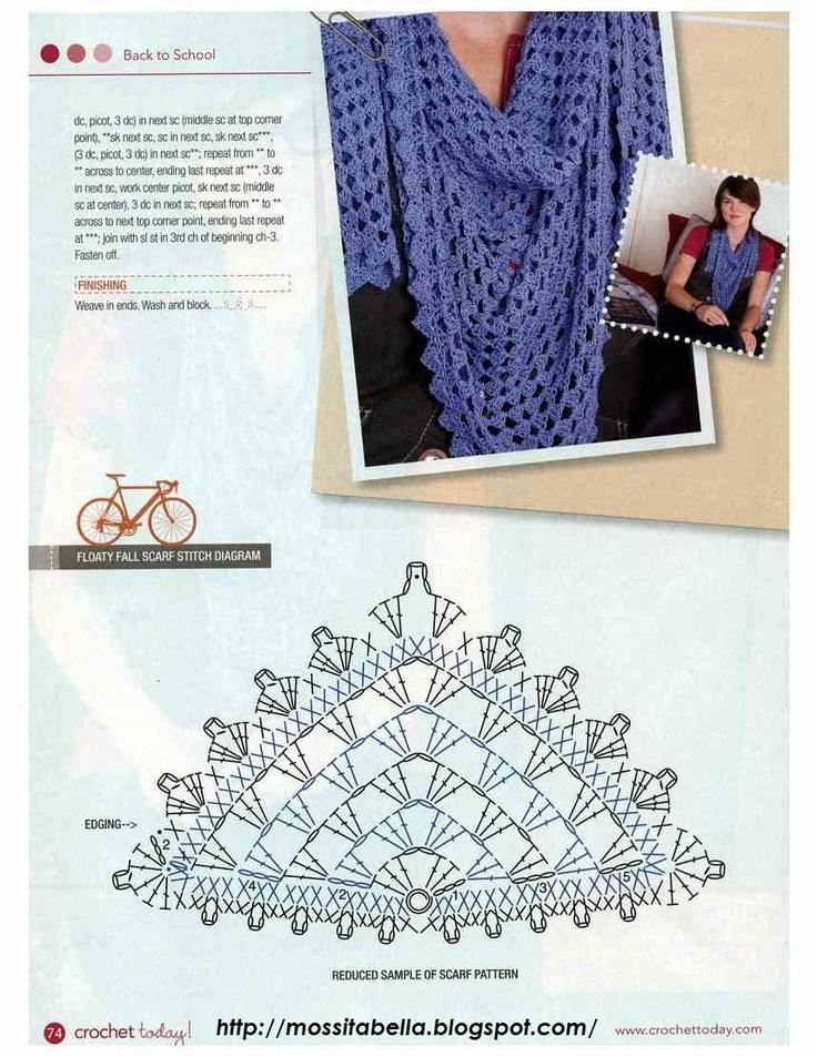 290 mejores imágenes de <a ganchillo- scarves en Pinterest ...
