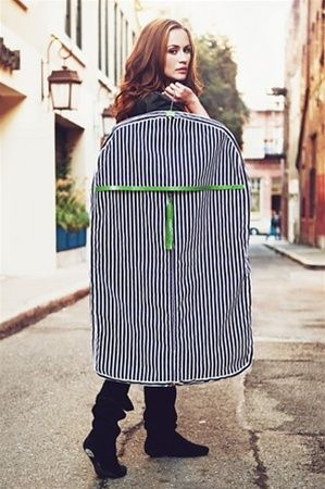 Cute garment bag! black + details = chic travel style.