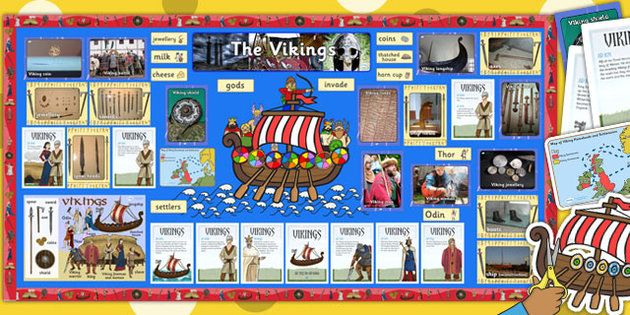 Ready Made Vikings Display Pack - ready made, viking, display - Twinkl