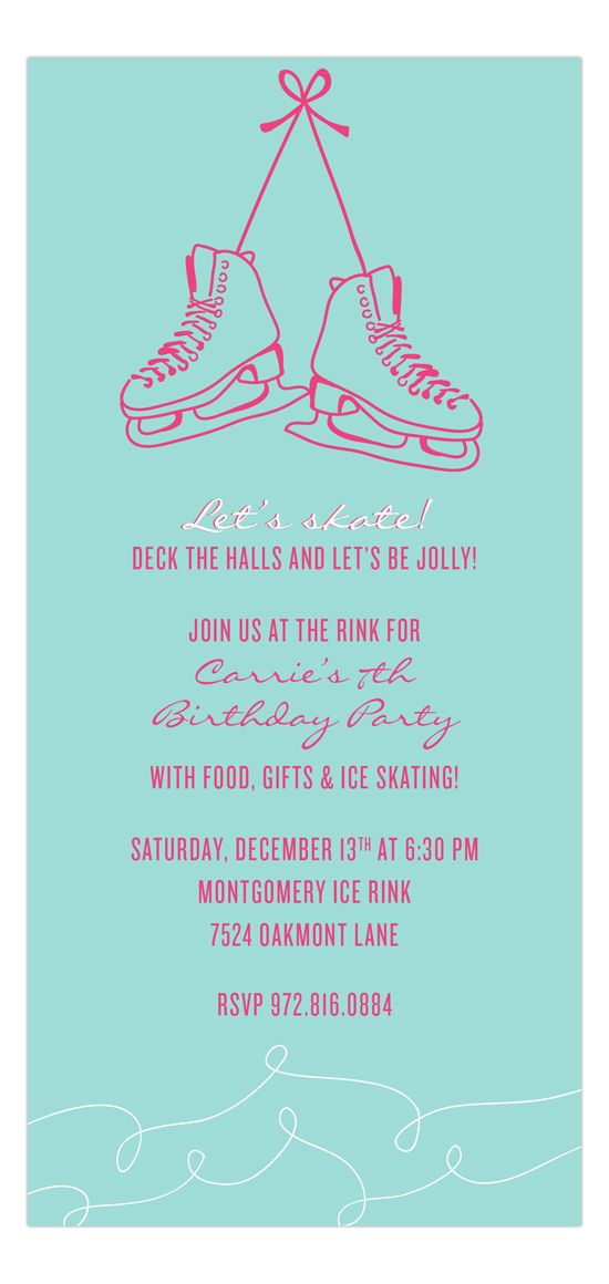 22 best Ice Skating Winter Birthday Party images on Pinterest ...