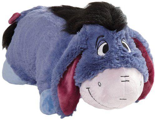 "Pillow Pets Authentic Disney 18"" Eeyore Folding Plush Pillow- Large"