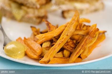 Sweet Potato Fries with Curried Mayonnaise Dip | Recipe