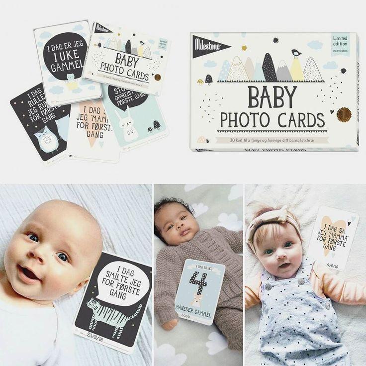 Disse limited edition milestone kortene er NÅ i butikk! #limitededition #milestonebabycards #milestone #minner #milepel #foto #photo #gave #gaveideer #nyhet #gavetips #baby #babyshower Www.dinbabyshower.no