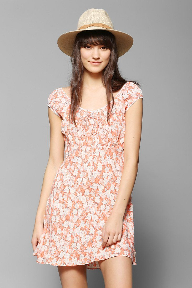 Urban outfitters kimchi blue empire waist floral mini - Urban outfitters valencia ...