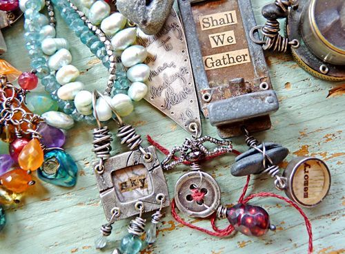 Nina: Bead Mixed, Nina Bagley Artist, Inspiration, Altered Jewelry, Bagley Jewelry, Artisan Jewelry, Art Jewelry, Altered Art, Craft Ideas