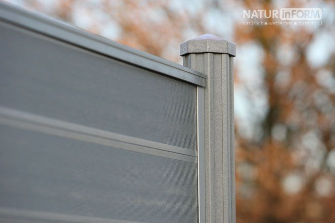 WPC-Sichtschutzzaun - DER VARIABLE: das langfristig schöne Sichtschutzsystem