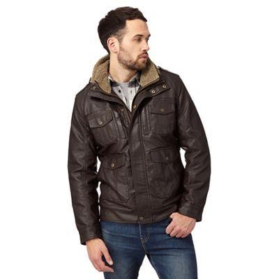 Barneys Dark brown borg lined jacket | Debenhams