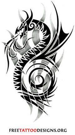tribal dragon tattoo designs drakar pinterest. Black Bedroom Furniture Sets. Home Design Ideas