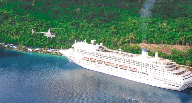 100's of cruise ships visit Port Vila every year and 1000's of passengers enjoy a helicopter scenic flight