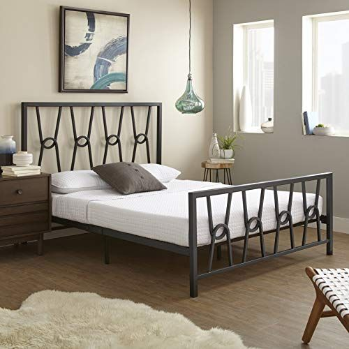Boyd Sleep Pierre Metal Platform Bed Frame Mattress Foundation With Headboard And Footboard Quee Solid Wood Platform Bed Metal Platform Bed Bed Frame Mattress