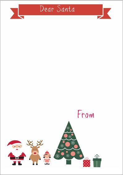Imprimibles Gratuitos, ¡Escribe ya tu Carta a Santa Claus!