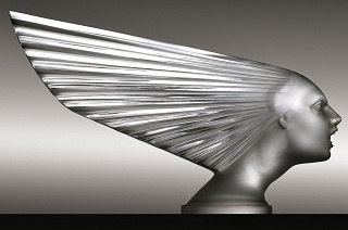 """Spirit of the Wind"" (1928) - Lalique, Art Deco hood ornament (mascot). Ele Chesney Collection, RM Auctions at Amelia Island.: Art Nouveau, Amelia Islands, Hoods Ornaments, Deco Hoods, Laliqu Automobile, Art Deco, Artdeco, Automobile Mascot, Cars Mascot"