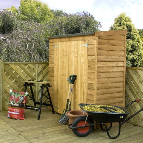 winchester 6ft x 26ft 178m x 078m pent overlap storage shed - Garden Sheds Quick Delivery