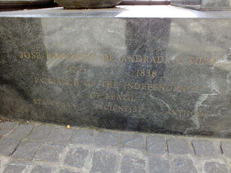 Jose Bonifacio de Anrada e Silva statue at Bryant Park in New York City.
