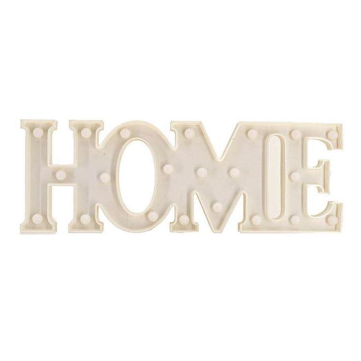 """Διακοσμητικό Τοίχου """"HOME"""" +21 LEDS INART"""