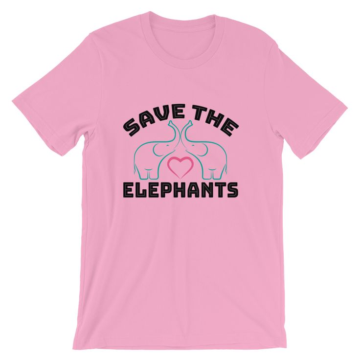 Save the Elephants, #BeKindToElephants Short-Sleeve T-Shirt #savetheelephants #animallovers #animalrights #elephant #humanity