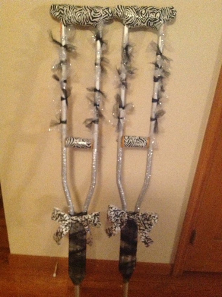 My Decorated Crutches For Prom Art Pinterest