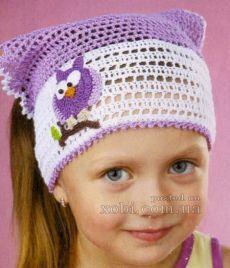 Вязаные детские шапки, шляпки, береты, косынки и шарфы вязаные крючком и…