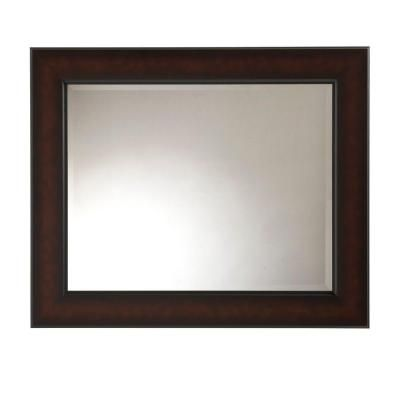 Martha stewart living maracaibo 36 in x 30 in coppered for Large mirrors for bathroom walls