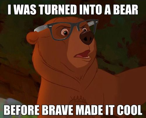 Kenai, Disney's Brother Bear: the only acceptable hipster meme