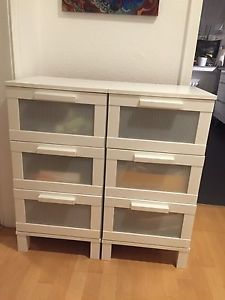 2 X Ikea Aneboda Kommode Mit 3 Schubladen | eBay