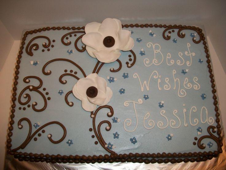 Sheet Cake Designs For Wedding Shower : Rustic Bridal Shower Cakes cornflower blue bridal shower ...