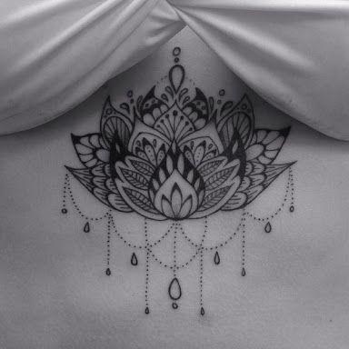 under boob sternum chandelier tattoo designs - Google Search
