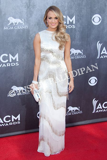 Carrie Underwood at the 49th Annual Academy Of Country Music Awards at the MGM Grand Garden Arena on April 6, 2014 in Las Vegas, Nevada.