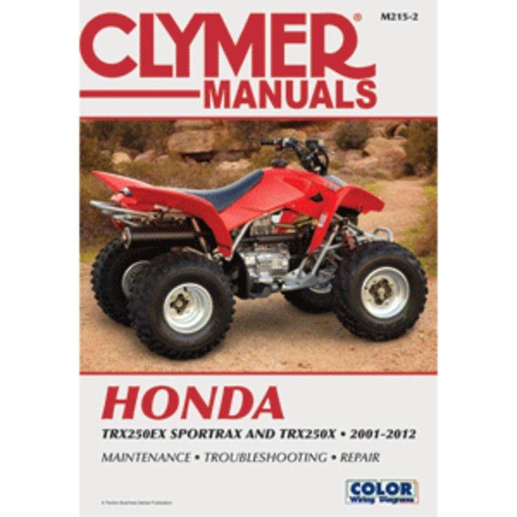 Clymer Honda Trx250ex Sportrax  U0026 Trx 250x  2001