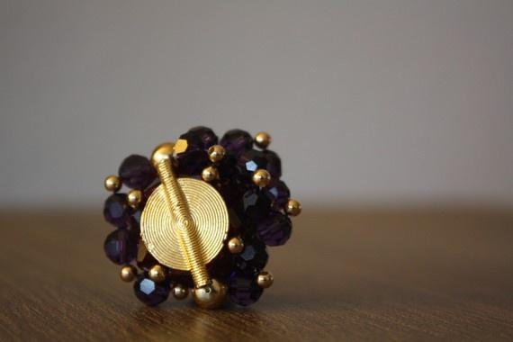 Afle Bijoux Purple Swarovski Crystals Ring by AFLEBijoux on Etsy, €45.00  #afle #etsy #bague