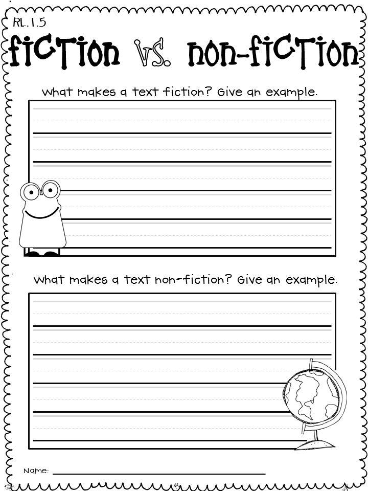 8 best Fiction vs NonFiction Literature vs Informational Text – Informational Text Worksheets Middle School