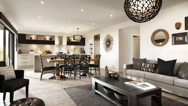 Carlisle Homes - Thompson 35 Living, Dining and Kitchen