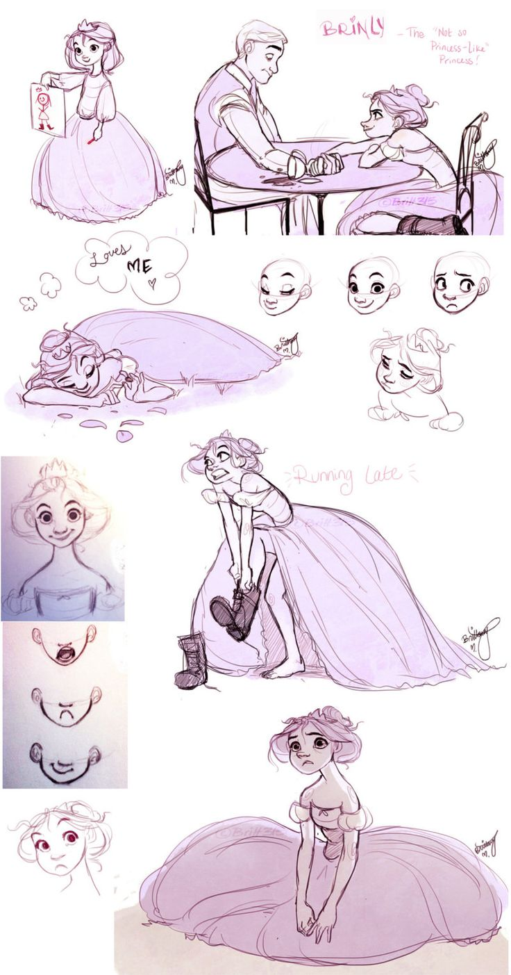 """Brinly, the not-so-princess-like princess"" by *Britt315 on deviantART -- several more sketches at the link and they're all amazing."