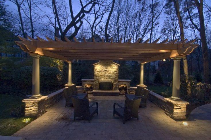 Pergola lighting outdoor accents lighting backyard for Pergola lighting ideas