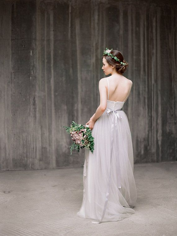 Awesome Icidora Romantic wedding dress Grey wedding by Milamirabridal