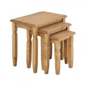 Cotswold Pine Nest of Tables CT907  www.easyfurn.co.uk
