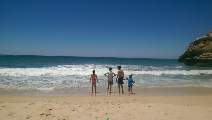 The Curley family in Portugal.