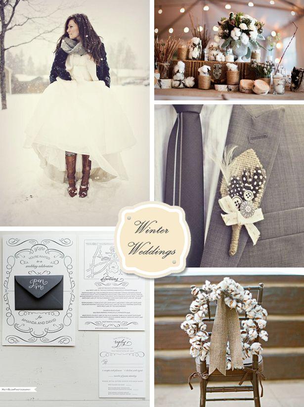 cotton and slate #winter wedding inspiration #color #inspiration