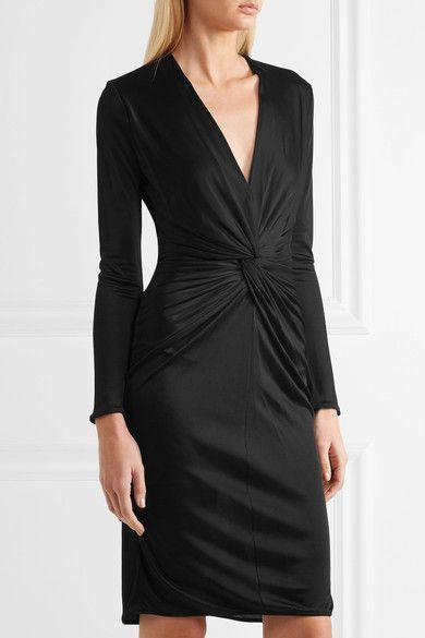 Lanvin - Twist-front Jersey Dress - Black - FR40